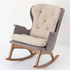 Rocker Armchair Upholstered Rocking Chairs For Living Room Upholstered Rocking