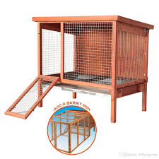 natural wooden large rabbit hutch 42 9x27 95x38 78 ferrets house