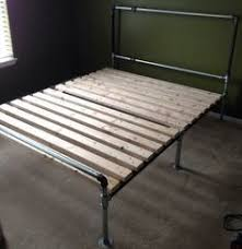 diy hand built king sized wood platform bed see post for