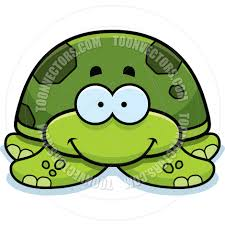 cartoon little sea turtle smiling by cory thoman toon vectors