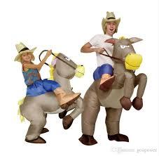 oisk purim inflatable cowboy dinosaur costume ride on horse fancy