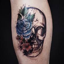 flowers skull by babiramos on deviantart