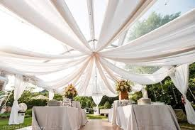 wedding drapery ceiling draping sheer voile chiffon backdrop wall divider drape
