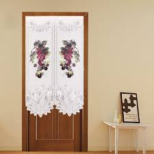 Kitchen Door Curtain by Grape Design Polyester Flower Printing Knitting Decorative
