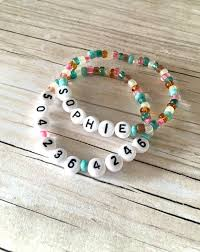 make friendship bracelet beads images Word beads can be made into bracelets with a name and number for jpg