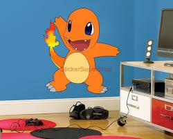 amazon com charmander pokemon decal wall sticker art decor mural