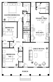 Floor Plan For 3 Bedroom 2 Bath House by Endearing 20 House Plans Design Inspiration Of Hollis 2432 3