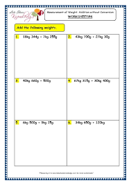 grade 3 maths worksheets 12 3 measurement of weight addition
