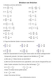 mathe brüche klasse 6 bruchrechnen lernen mathe übungsblätter
