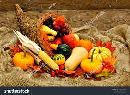 harvest thanksgiving harvest thanksgiving cornucopia filled vegetables on stock photo