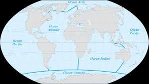 World Continents And Oceans Map by The Five Oceans Maps On The Web Pinterest Ocean