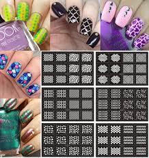 ejiubas geometry u0026 complex pattern nail stencil vinyl nail polish
