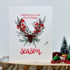 altenew u2022 antler christmas wreath craft walks