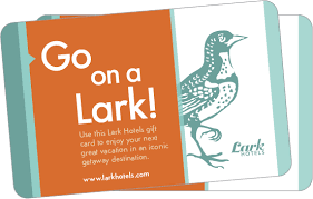 hotel gift card gift cards for new vacations to any lark hotel