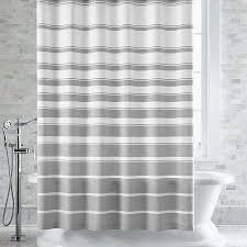 Gray Ruffle Shower Curtain Magnificent Striped Shower Curtains And Ticking Stripe Ruffle