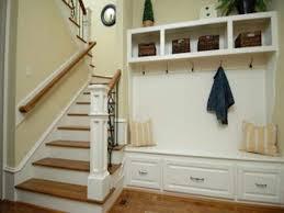 hall tree storage bench entryway wood coat rack mudroom entry