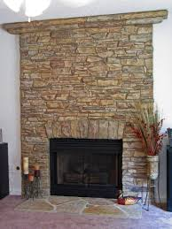 have a statement fireplace with the look of real stone concrete