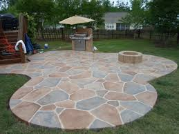 Stamped Concrete Patio Prices by Backyard Stone Patio Cost Outdoor Furniture Design And Ideas