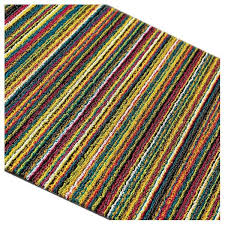 Chilewich Outdoor Rugs Bright Multi Shag Stripe Utility Mat By Chilewich Vertigo