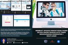 pendaftaran tutorial online ut jual tutorial codeigniter aplikasi pendaftaran pasien membangun