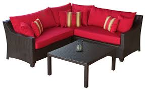 Poolside Seat Cushion Three Posts Northridge 4 Piece Sectional Seating Group With