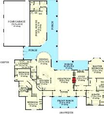 corner lot floor plans t shaped farmhouse floor plans plan ranch country corner