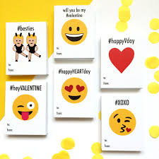 school valentines printable emoji school cards wants and wishes
