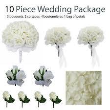 silk wedding flower packages 10 wedding package silk wedding flowers ivory