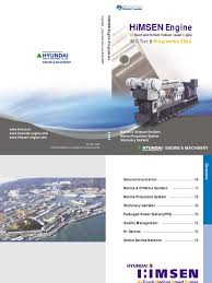 hyundai himsen 200910 engines diesel engine
