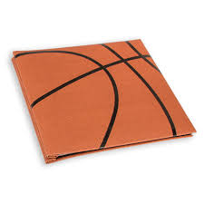 leather scrapbook basketball scrapbook with textured cover sports scrapbooks