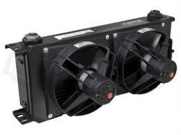oil cooler with fan setrab series 9 fan pack oil coolers 20 rows dual fans kartek off road