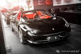 458 Spider Interior Ferrari 458 Spider Gets Stunning New Interior From Carlex Design