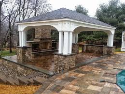 outdoor pavilion u0026 fireplace life time pavers