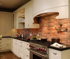 Brick Tile Backsplash Kitchen Small Galley Kitchen Makeover With Brick Backsplash For The Home