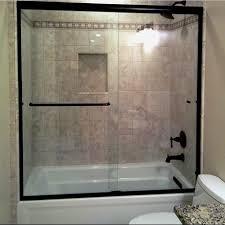 Tub With Shower Doors Platinum Riviera Series Prese 5 16 Glass Semi Frameless