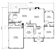 colonial style house plan 4 beds 4 50 baths 4597 sq ft plan 57 365