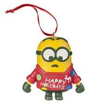 universal studios despicable me the minion ornament with striped
