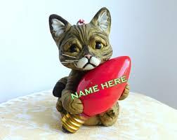 tabby cat ornament etsy