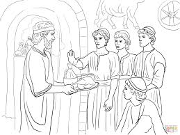 daniel makes good choices and refuses king u0027s food coloring page
