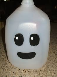 Halloween Decorations Using Milk Jugs - making a milk jug ghost milk jug ghosts milk jugs and creative