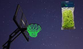 glow in the mcnick glow in the outdoor basketball net