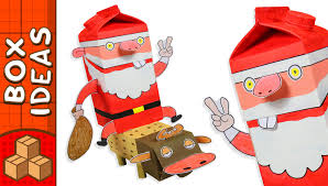 cardboard santa and rudolph diy christmas crafts for kids youtube