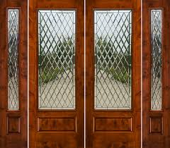 Patio Doors With Sidelights That Open Rustic French Doors With Sidelights Solid Knotty Alder Doors