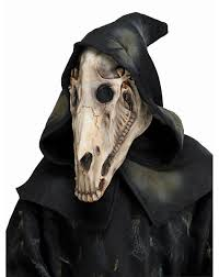 hooded horse skull mask u2013 spirit halloween evil pins pinterest
