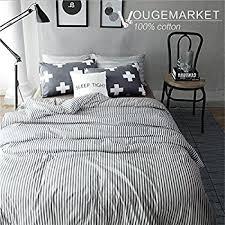Gray White Duvet Cover Amazon Com Uozzi Bedding 3 Piece Duvet Cover Set Queen Full