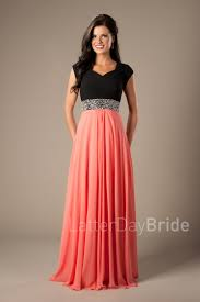 modest prom dresses coral