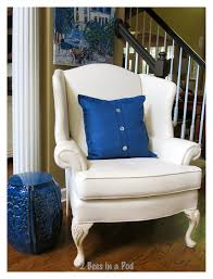 Wing Chairs For Living Room by Painted Wing Chair It Worked 2 Bees In A Pod