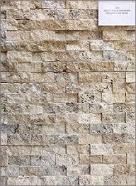 Travertine Backsplash Tiles by Tumbled Travertine Backsplash With An Emperador Dark Mosaic