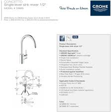grohe concetto kitchen faucet grohe 32665dc1 concetto steel pullout spray kitchen faucets