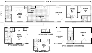 Mobile Home Floor Plans Single Wide Brigantine 14 X 70 956 Sqft Mobile Home Factory Expo Home Centers